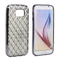 Samsung Galaxy S7 Edge Exotic Electroplate Soft Hybrid Case (Space Gray)