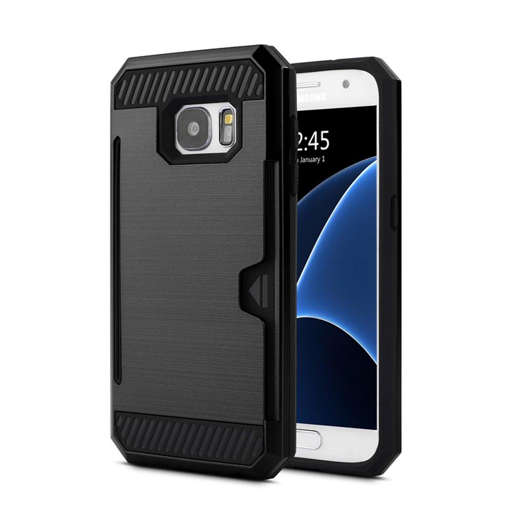 the best attitude 68059 f12e2 Wholesale Samsung Galaxy S7 Credit Card Armor Case (Black)