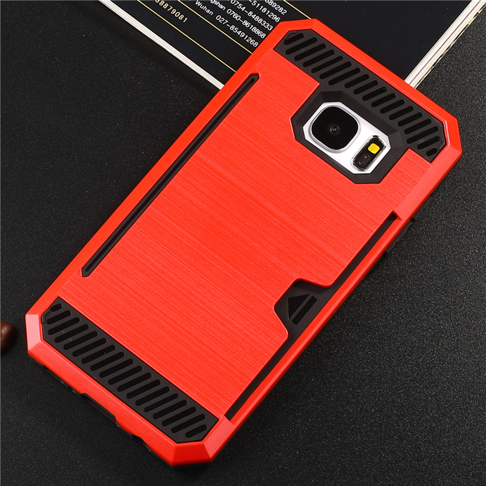 competitive price d6e0b 00ed9 Wholesale Samsung Galaxy S7 Edge Credit Card Armor Case (Red)