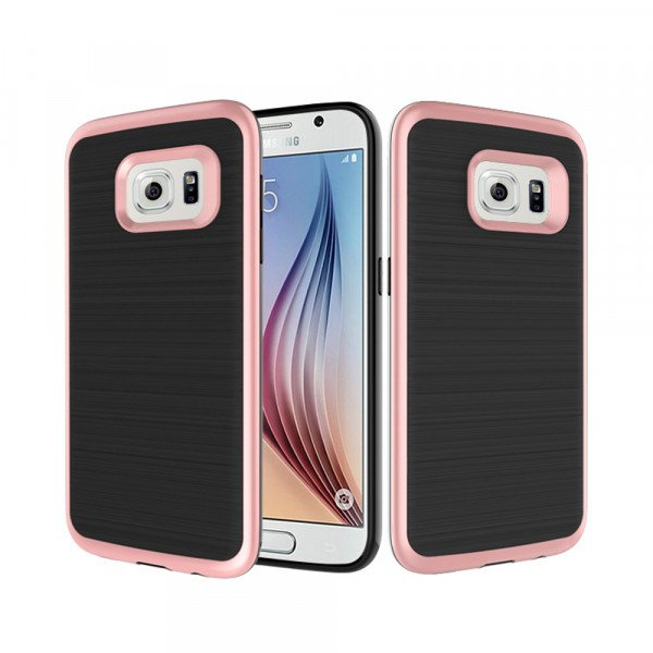 Wholesale Samsung Galaxy S7 Edge Impact Hybrid Case (Rose Gold)