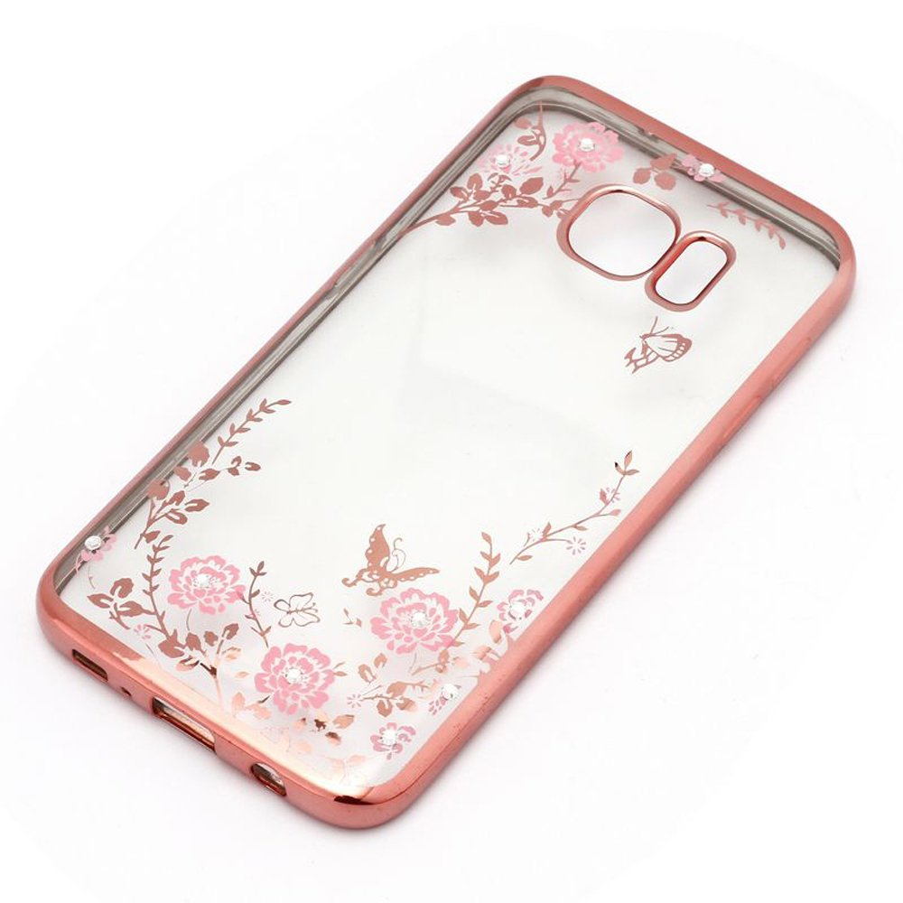 wholesale samsung galaxy s7 edge secret garden electroplate hybrid case rose gold. Black Bedroom Furniture Sets. Home Design Ideas