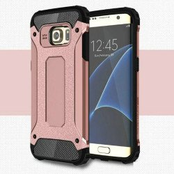 Samsung Galaxy S7 Edge Ballistic Armor Case (Rose Gold)