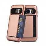 Wholesale Samsung Galaxy S7 Card Slots Hybrid Case (Champagne Gold)