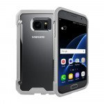 Wholesale Galaxy S7 Clear Defense Hybrid Case (Gray)