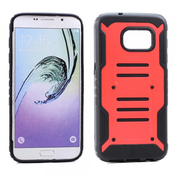 Wholesale Samsung Galaxy S7 Edge Cool Hybrid Case (Red)