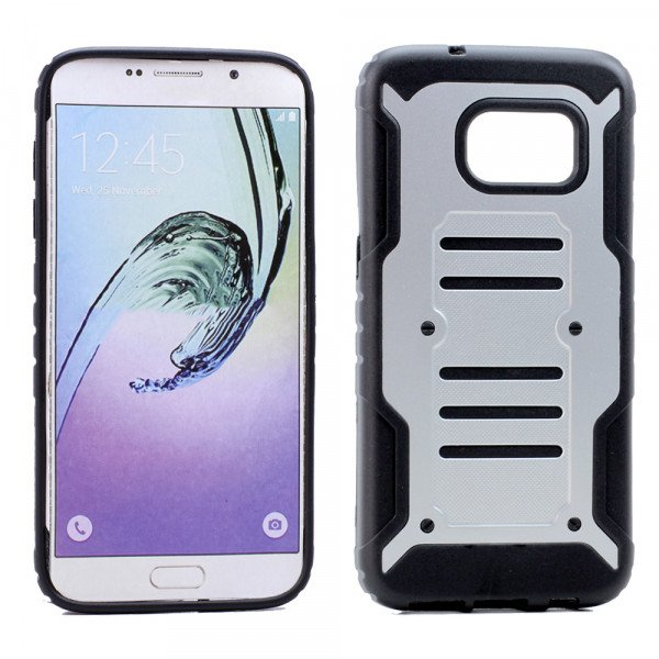 Wholesale Samsung Galaxy S7 Edge Cool Hybrid Case (Silver)