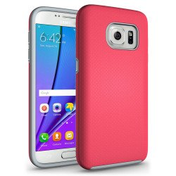 Samsung Galaxy S7 Rugged Hybrid Armor Case (Hot Pink)