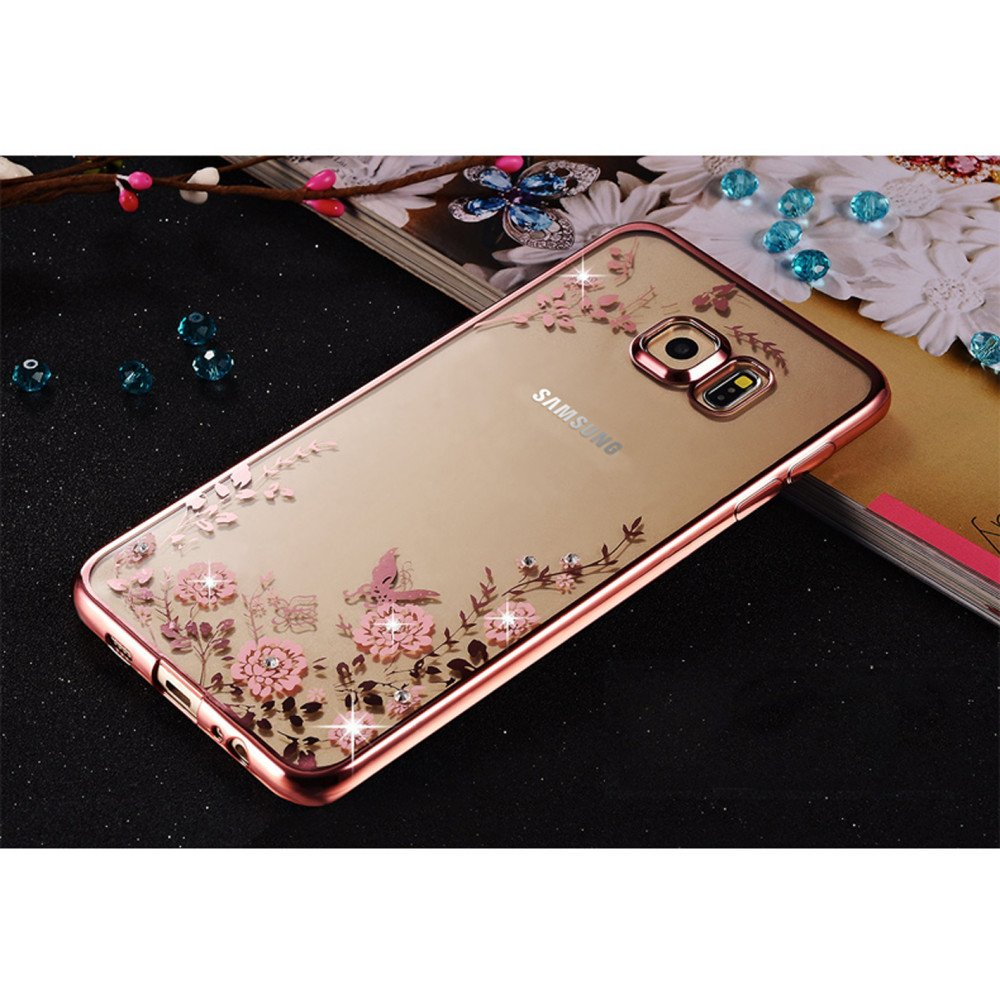 wholesale samsung galaxy s7 secret garden electroplate hybrid case rose gold. Black Bedroom Furniture Sets. Home Design Ideas