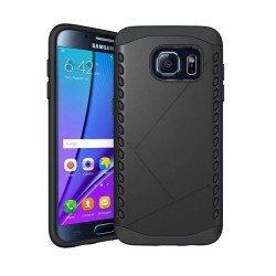 Galaxy S7 Strong Shield Hybrid Case (Black)