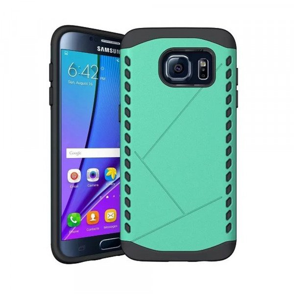 Wholesale Galaxy S7 Strong Shield Hybrid Case (Green)