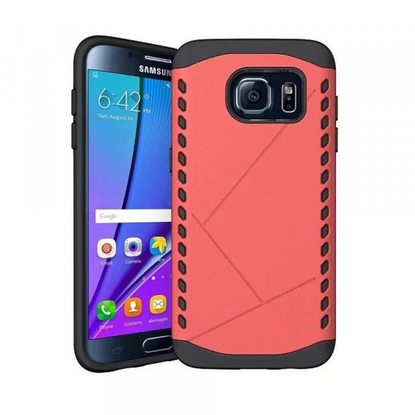 Wholesale Galaxy S7 Strong Shield Hybrid Case (Red)