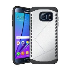 Galaxy S7 Strong Shield Hybrid Case (Silver)