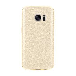 Galaxy S7 Edge Shiny Armor Hybrid Case (Champagne Gold)