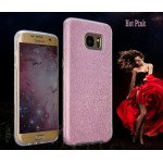 Wholesale Galaxy S7 Shiny Armor Hybrid Case (Hot Pink)