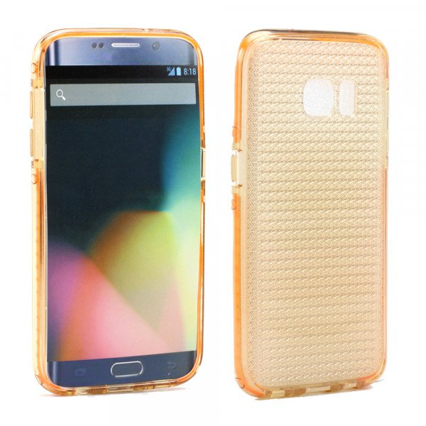 Wholesale Samsung Galaxy S7 Edge Shockproof Air Case (Orange Gold)