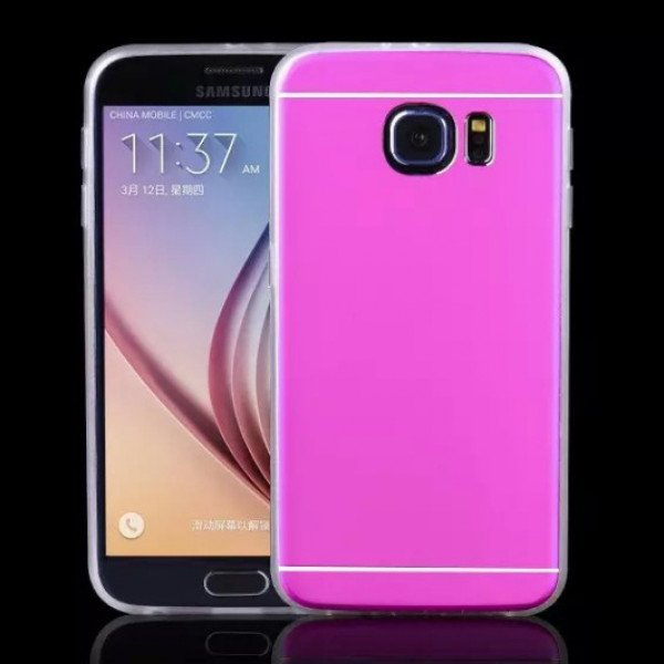 Wholesale Galaxy S7 Slim Aluminum Hybrid Case (Hot Pink)