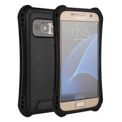 Galaxy S7 Edge Tech Armor Hybrid Case (Black)
