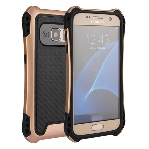 Wholesale Galaxy S7 Edge Tech Armor Hybrid Case (Champagne Gold)