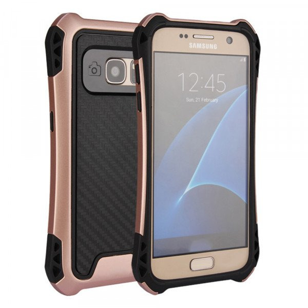 Wholesale Galaxy S7 Edge Tech Armor Hybrid Case (Rose Gold)