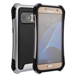 Galaxy S7 Edge Tech Armor Hybrid Case (Silver)