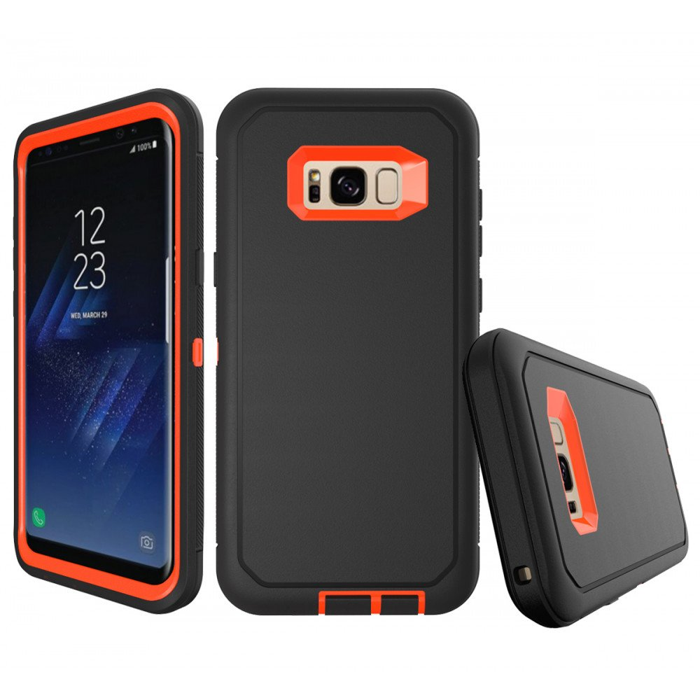 wholesale dealer afb2a d96de Wholesale Galaxy S8 Plus Armor Defender Case (Gray Orange)