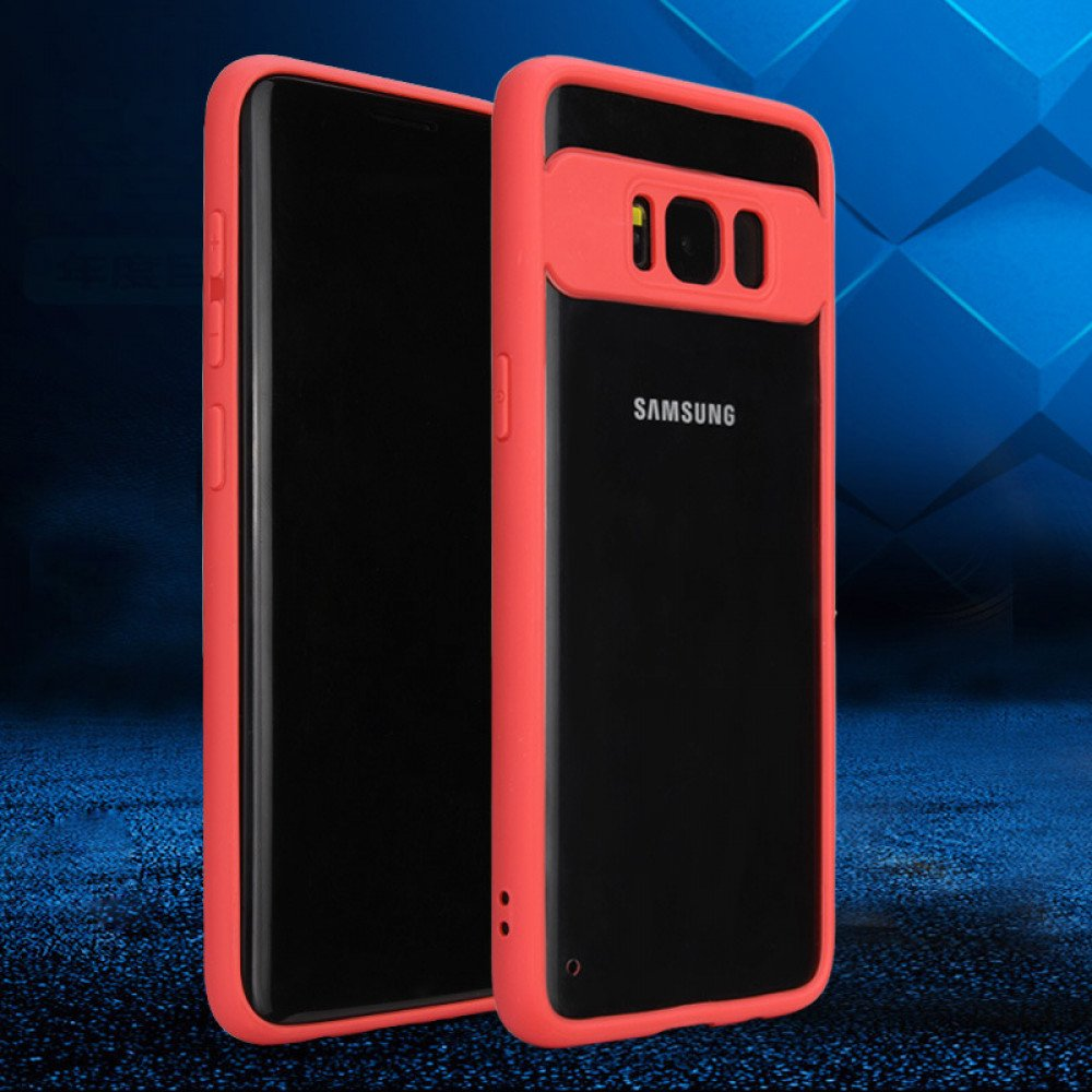 new style 2b8ba 26516 Wholesale Galaxy S8 Slim Clear Hybrid Case (Red)