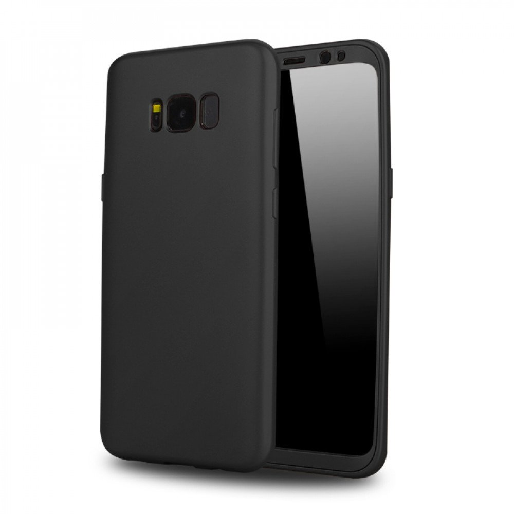 Wholesale Samsung Galaxy S8 TPU Full Cover Hybrid Case (Black)