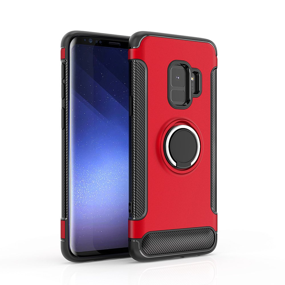 Wholesale galaxy s9 plus 360 rotating ring stand hybrid for Ring case