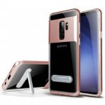 Galaxy S9+ (Plus) Clear Armor Bumper Kickstand Case (Rose Gold)