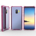 Samsung Galaxy S9+ (Plus) Crystal Clear Transparent Case (Hot Pink)