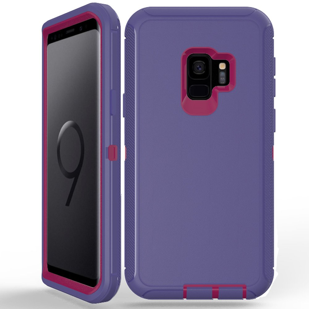 Wholesale Galaxy S9 Armor Defender Case Purple Hot Pink