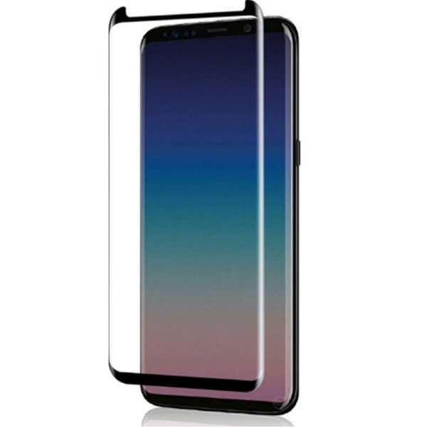 Wholesale Galaxy S9 / S8 Tempered Glass Full Screen Protector Case Friendly (Glass Black)