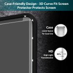 Wholesale Galaxy S9+ (Plus) / S8 Plus Full Adhesive Glue Full Edge Tempered Glass Screen Protector - Case Friendly (Glass Black)