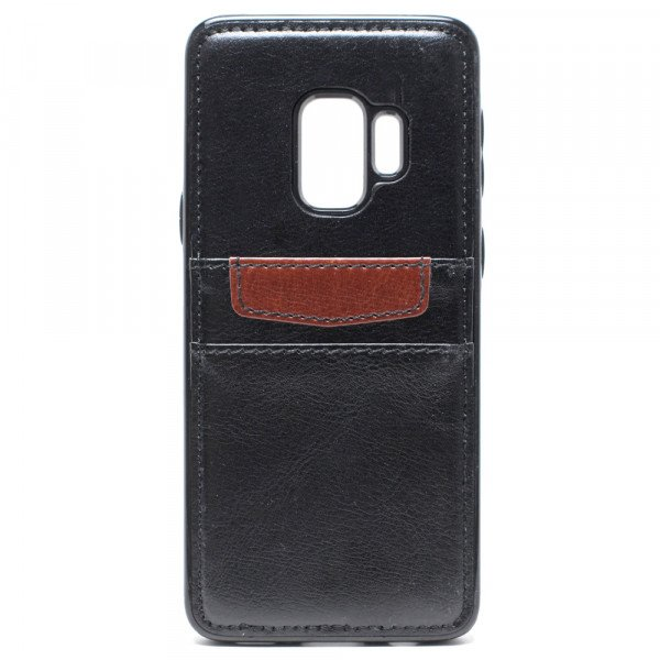 Wholesale Galaxy S9 Leather Style Credit Card Case (Black)