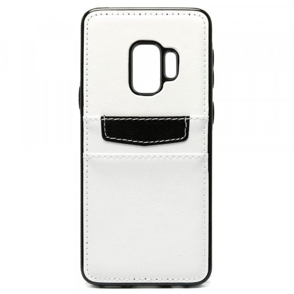 Wholesale Galaxy S9 Leather Style Credit Card Case (White)