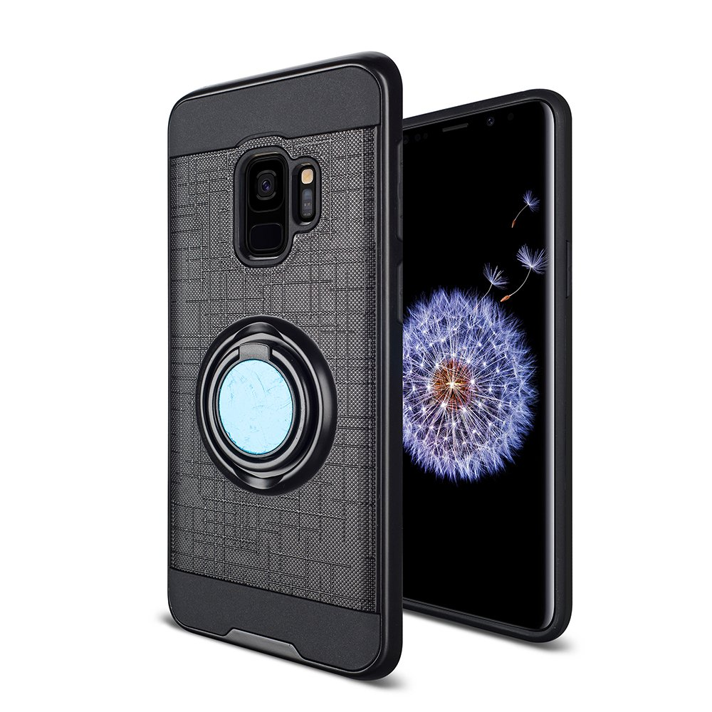 Wholesale galaxy s9 plus slim 360 ring kickstand hybrid for Ring case