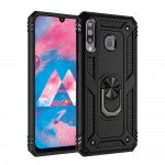 Wholesale Samsung Galaxy A10S Tech Armor Ring Grip Case with Metal Plate (Black)