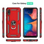 Wholesale Samsung Galaxy A10e Tech Armor Ring Grip Case with Metal Plate (Rose Gold)