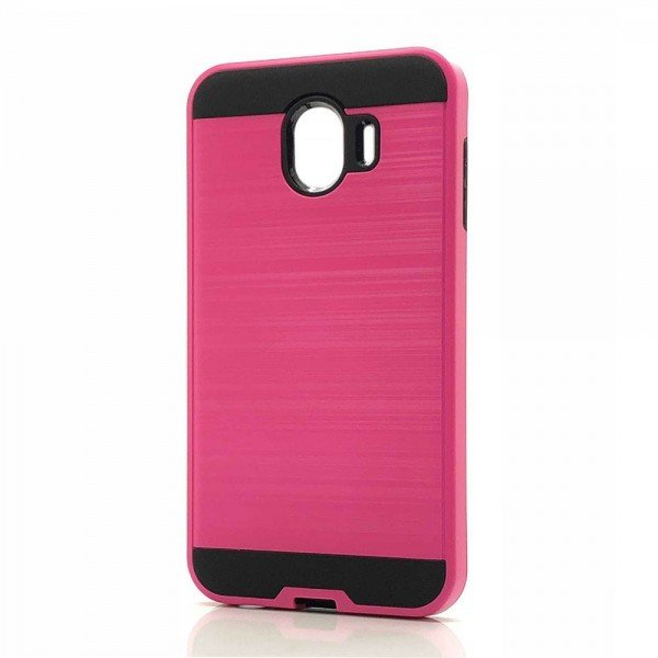 Wholesale Samsung Galaxy J2 Core J260 Armor Hybrid Case (Hot Pink)