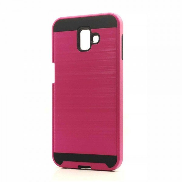 Wholesale Samsung Galaxy J6+ Plus J610 Armor Hybrid Case (Hot Pink)