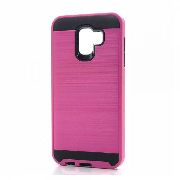 Wholesale Samsung Galaxy J8 J810 Armor Hybrid Case (Hot Pink)