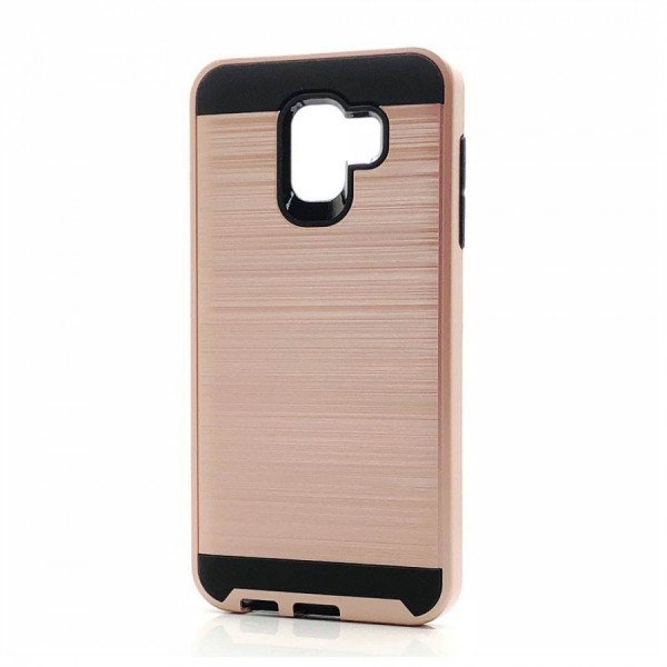 Wholesale Samsung Galaxy J8 J810 Armor Hybrid Case (Rose Gold)