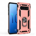 Wholesale Galaxy S10 Tech Armor Ring Grip Case with Metal Plate (Rose Gold)