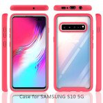 Wholesale Galaxy S10 5G Clear Dual Defense Hybrid Case (White)