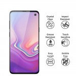 Wholesale Galaxy S10e Tempered Glass Full Screen Protector - Case Friendly (Black)