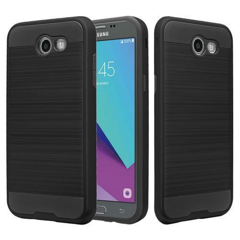 new concept 6ca99 e6237 Wholesale Samsung Galaxy J3 Emerge, J3 (2017) Armor Hybrid Case (Black)