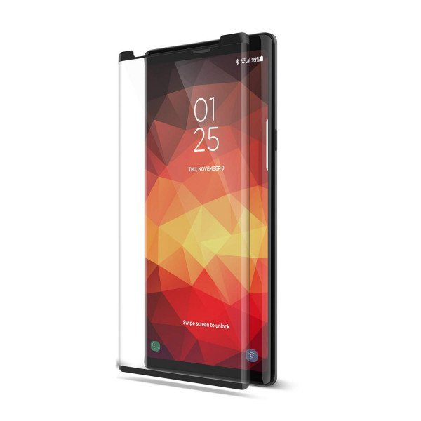 Wholesale Galaxy Note 9 Tempered Glass Full Screen Protector - Case Friendly (Glass Black)