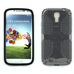 Galaxy S4 Hybrid Grip Case (Black-Black)