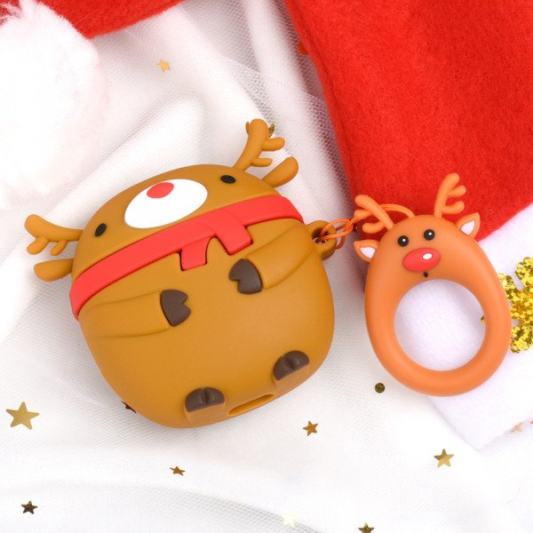 Wholesale Cute Design Cartoon Silicone Cover Skin for Airpod (1 / 2) Charging Case (Reindeer)