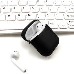 Wholesale Premium TPU Cover and Skin for Apple Airpods Charging Case with Hook Clip (Black)